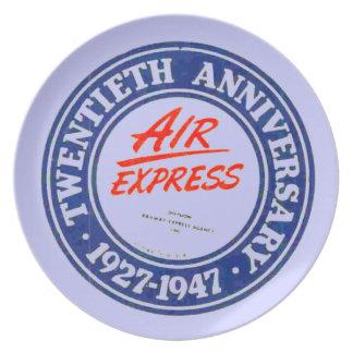 Placa expresa de la melamina del aniversario de plato para fiesta
