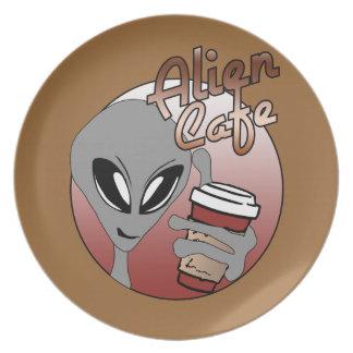 Placa extranjera del café platos para fiestas