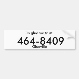 "placa falsa del ""glueville"" pegatina de parachoque"