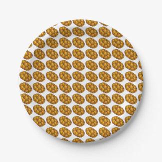 Placa feliz de Jánuca Chanukah del pan del pan del Plato De Papel De 7 Pulgadas