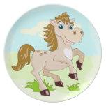 Placa feliz del caballo platos para fiestas
