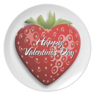 Placa feliz del el día de San Valentín 8 Plato De Cena