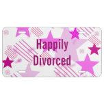 Placa feliz divorciada placa de matrícula
