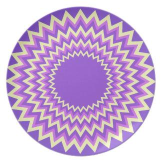 Placa festiva púrpura del sudoeste plato para fiesta