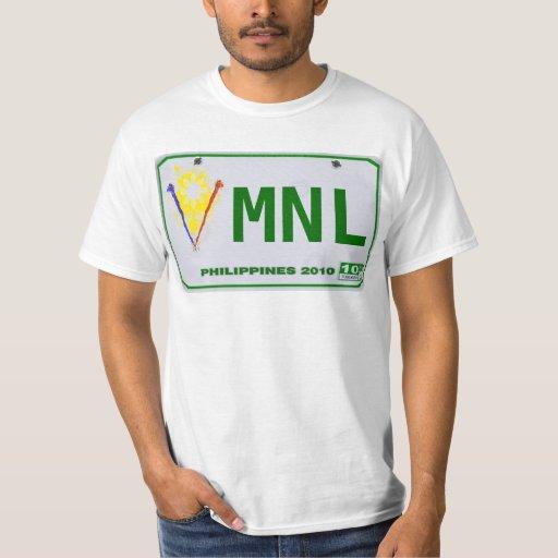 Placa filipina de Manila (MNL) Playera