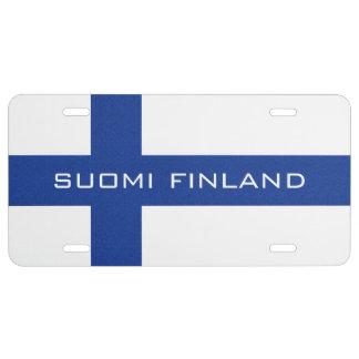 Placa finlandesa del personalizado de la bandera placa de matrícula