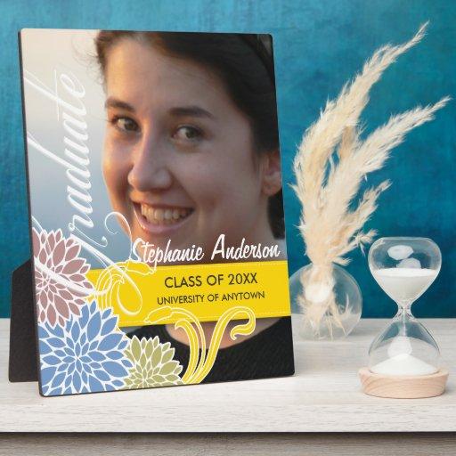 Placa floral de encargo de la graduación