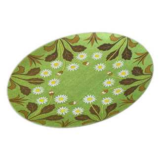 Placa floral del vintage platos para fiestas