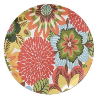 Placa floral platos para fiestas