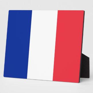 Placa francesa de la bandera