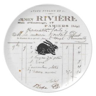 Placa francesa de la melamina de la decoración - platos