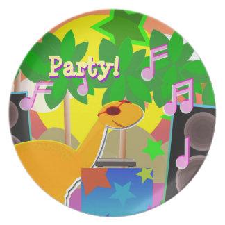 Placa fresca de los bocados de la torta del fiesta platos para fiestas