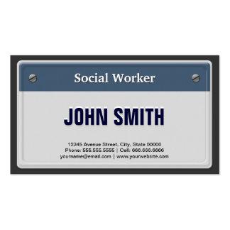 Placa fresca del coche del asistente social