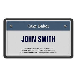 Placa fresca del coche del panadero de la torta tarjeta de negocio