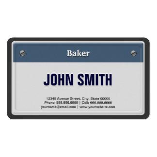 Placa fresca del coche del panadero plantilla de tarjeta personal