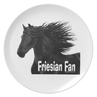 Placa frisia de la fan del caballo platos
