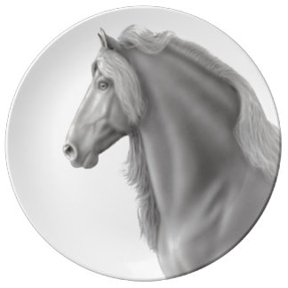 Placa frisia orgullosa de la porcelana del plato de cerámica