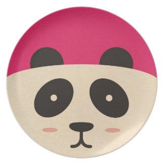 Placa frontal de la panda plato