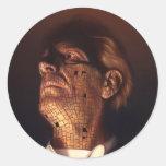 Placa frontal pegatina redonda