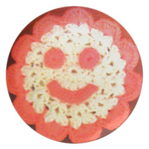 Placa frontal sonriente platos