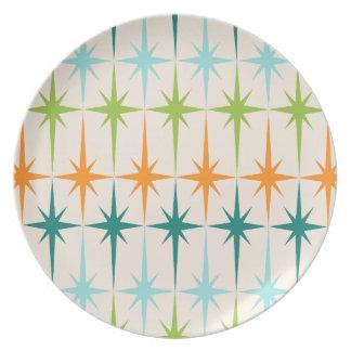 Placa geométrica de la melamina de Starbursts del Platos