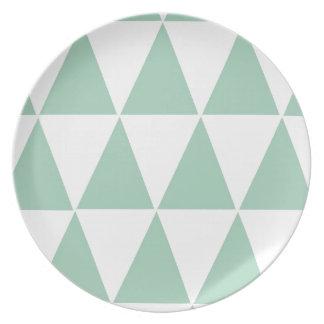 Placa geométrica de Melamime Platos Para Fiestas