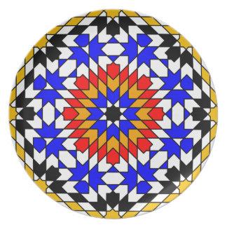 Placa geométrica islámica del modelo plato para fiesta