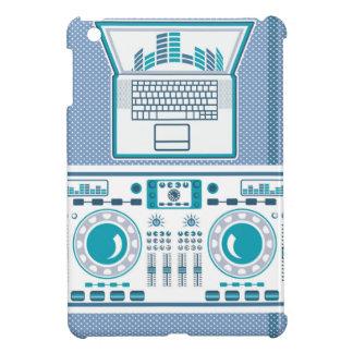 Placa giratoria con vector del equipo de DJ del