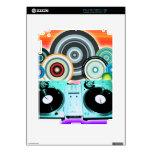 Placa giratoria de DJ con el vinilo - arte pop Calcomanía Para iPad 2
