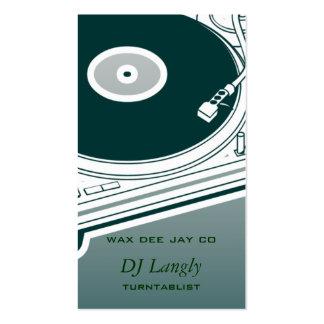 Placa giratoria de DJ Dee Jay Tarjetas De Visita