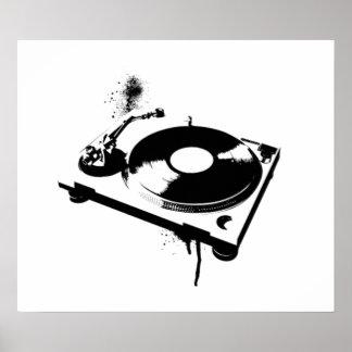 Placa giratoria de DJ Posters
