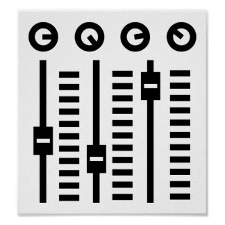 Placa giratoria de DJ Impresiones