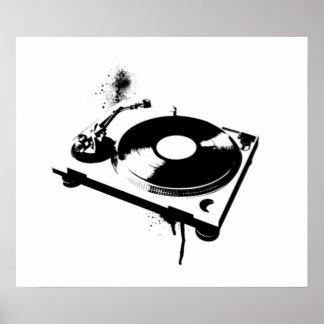 Placa giratoria de DJ Poster