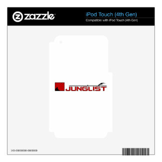 Placa giratoria de Junglist iPod Touch 4G Calcomanías