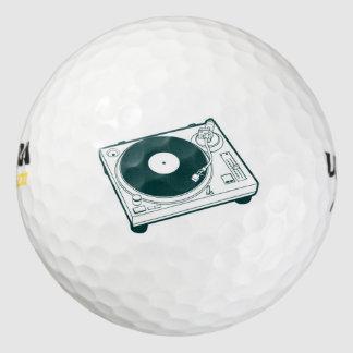 Placa giratoria de la cera de la escuela vieja pack de pelotas de golf