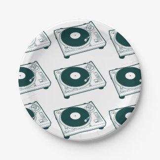 Placa giratoria de la cera de la escuela vieja platos de papel