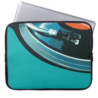 Placa giratoria de la música del vinilo fundas ordendadores