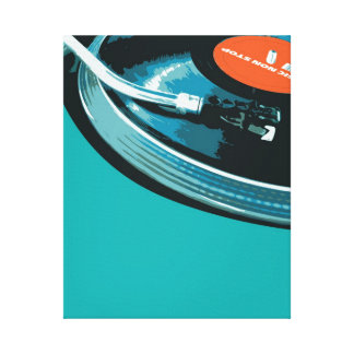 Placa giratoria de la música del vinilo impresion en lona