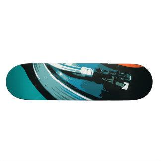 Placa giratoria de la música del vinilo skate boards