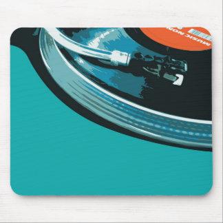 Placa giratoria de la música del vinilo mousepad