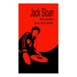 Placa giratoria del disc jockey de DJ - tarjeta de Tarjetas De Visita