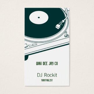 Placa giratoria del disc jockey tarjetas de visita