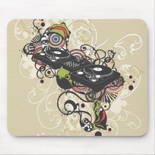 Placa giratoria Mousepad de DJ Tapete De Raton