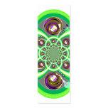 Placa giratoria púrpura y verde blanca retra tarjetas de visita mini