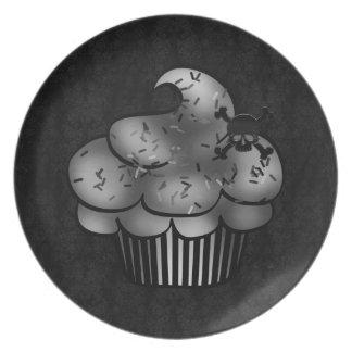 Placa gótica negra de la magdalena plato para fiesta
