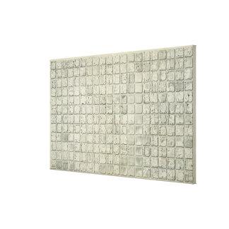 Placa grande con la escritura ideográfica del Tem Lienzo Envuelto Para Galerias