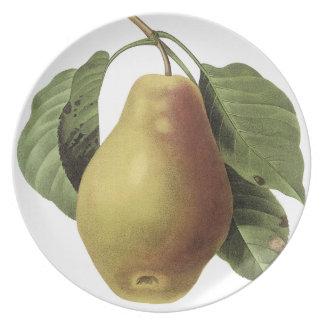 Placa grande de la pera del vintage de Pedro-José  Platos