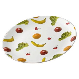 Placa grande de la porcelana de la ensalada de plato de cerámica