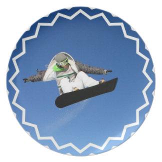 Placa grande de la snowboard del aire platos