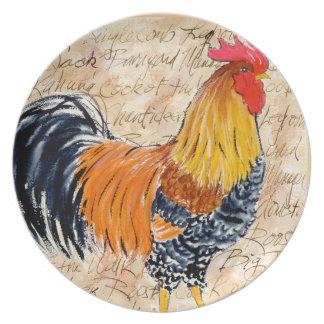 Placa grande del gallo de Jack Plato De Cena